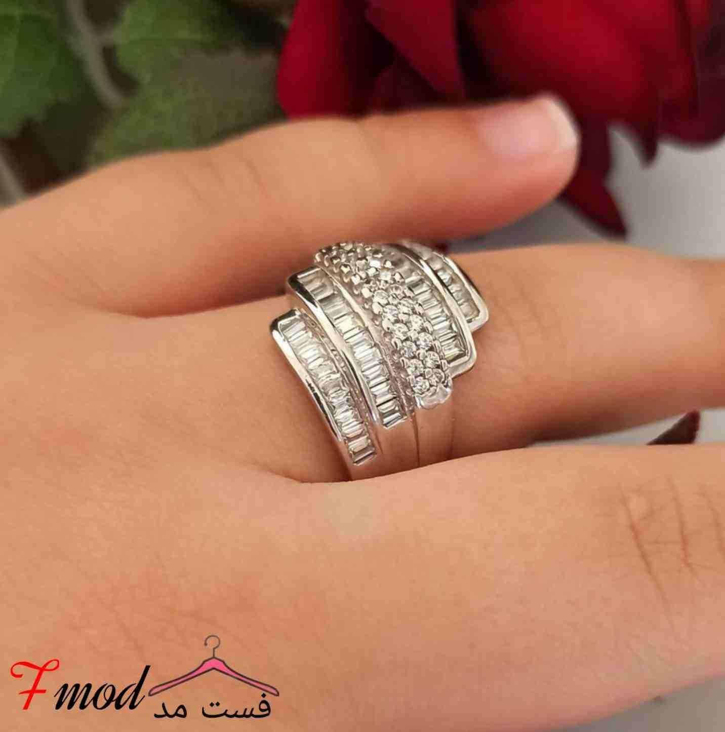 انگشتر نقره زنانه14